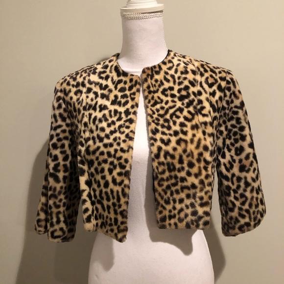 Jackets & Blazers - ❤️🔥🌸 💼Cropped Leopard print Jacket💕🎉